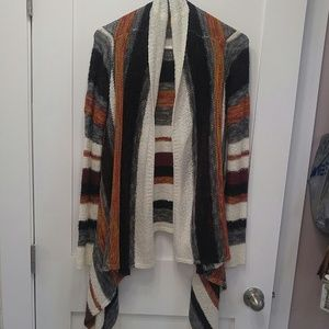 Ling front assymetric cardigan sweater multicolore